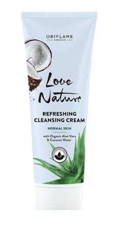 LOVE NATURE Refreshing Cleansing Cream with Organic Aloe Vera & Coconut Water